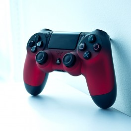 OWND PS4 V2 Soft Touch Shadow Red